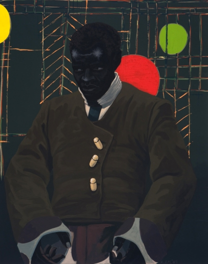 Kerry James Marshall, The Actor Hezekiah Washington as Julian Carlton Taliesen Murderer Frank Lloyd Wright Family, 2009 Courtesy: the artist and Jack Shainman Gallery, New York