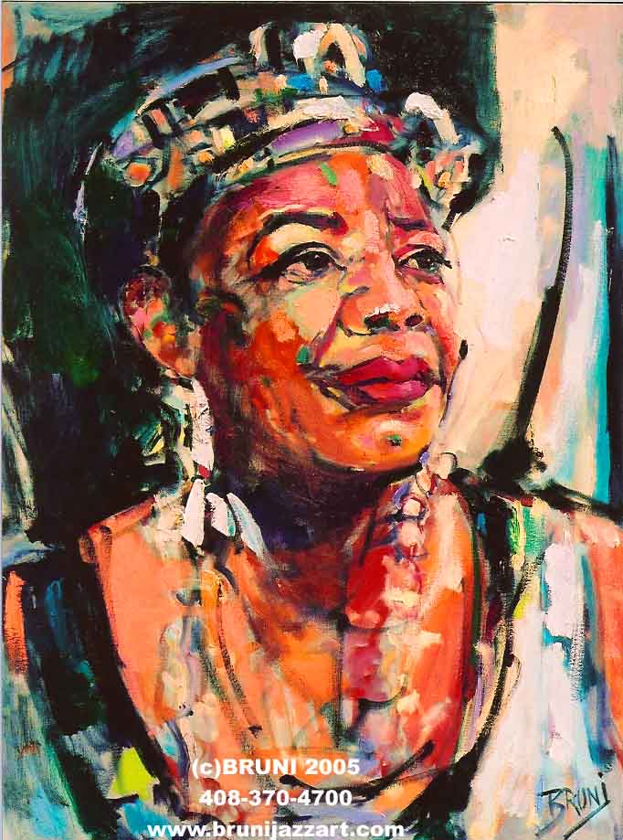 Maya Angelou, by Bruni (2005)