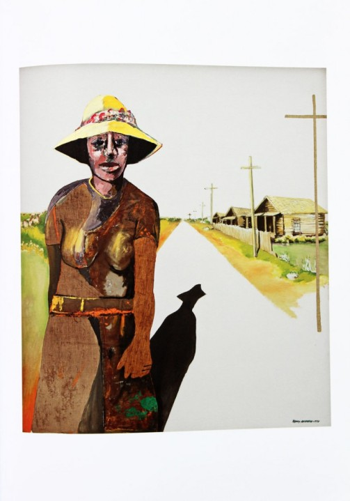 """Down the road,"" 1971, Benny Andrews"
