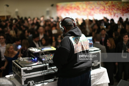 NEW YORK, NY - MARCH 19: DJ Afrika Bambaataa performs during the 2015 Guggenheim Young Collectors party supported by David Yurman at Guggenheim Museum on March 19, 2015 in New York City. (Photo by Neilson Barnard/Getty Images for David Yurman)