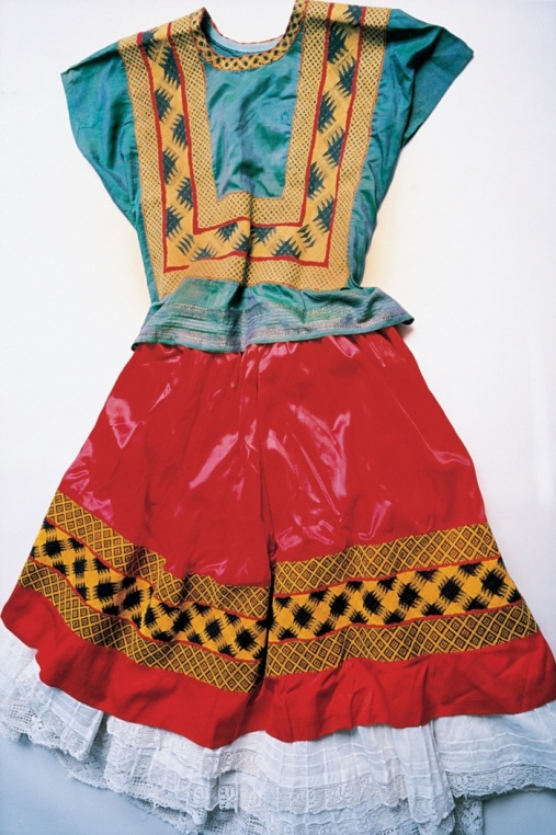 The Guardian   Kahlo's right leg was thinner than her left after childhood polio – and it was later fractured in 11 places when she had a horrific bus accident in her 20s. As a result, she wore long, traditional Tehuana dresses that concealed her lower body