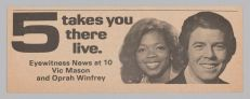 Advertisement for Eyewitness News at 10, 1975Collection of the Smithsonian National Museum of African American History and Culture, Image Credit: National Museum of African American History & Culture